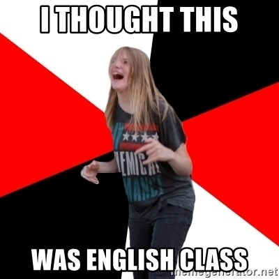 TPC SHIT - I THOUGHT THIS WAS ENGLISH CLASS