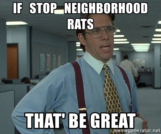Office Space That Would Be Great - if   stop   neighborhood rats That' be great