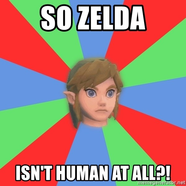 Confused Link - SO ZELDA ISN'T HUMAN AT ALL?!