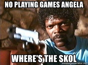 Pulp Fiction - NO PLAYING GAMES ANGELA WHERE'S THE SKOL