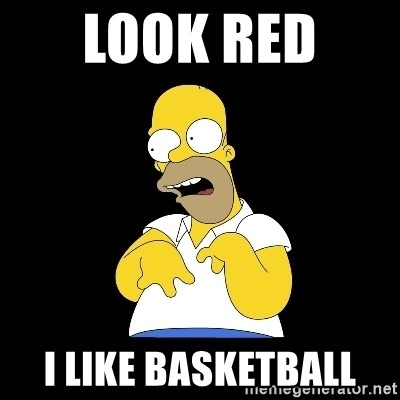 look-marge - LOOK RED  I LIKE BASKETBALL