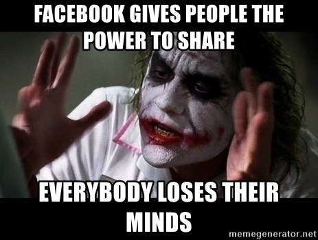 joker mind loss - Facebook gives people the power to share Everybody loses their minds