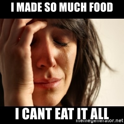 crying girl sad - I MADE SO MUCH FOOD  I CANT EAT IT ALL