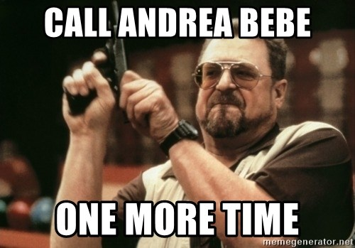 Walter Sobchak with gun - CALL ANDREA BEBE ONE MORE TIME