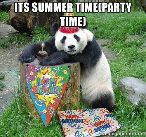 Happy Birthday Panda - ITS SUMMER TIME(PARTY TIME)