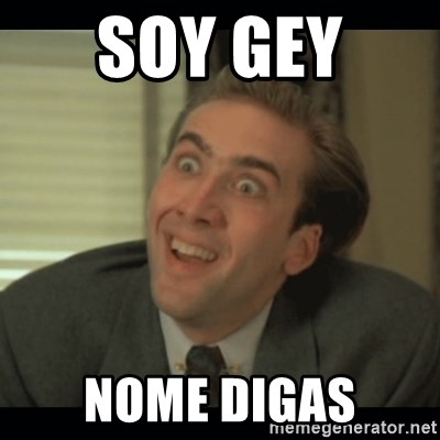 Nick Cage - SOY GEY  NOME DIGAS