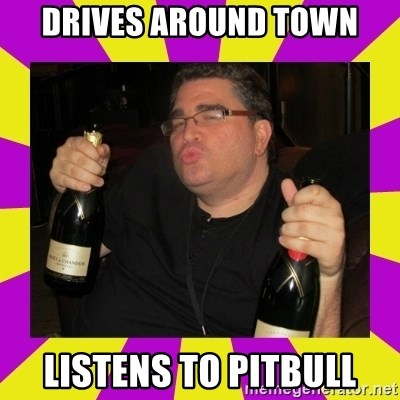 Double-Fisting Dildo - drives around town listens to pitbull