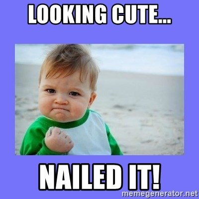 Baby fist - Looking cute... Nailed it!