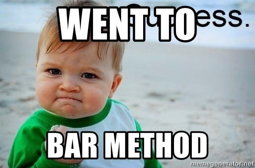 success baby - WeNt to Bar method