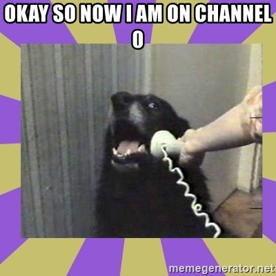 Yes, this is dog! - OKAY SO NOW I AM ON CHANNEL 0