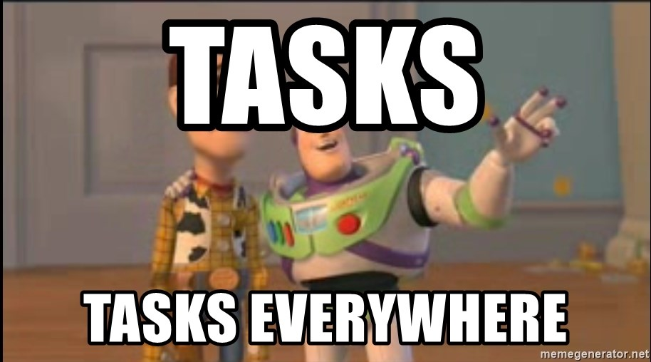 X, X Everywhere  - Tasks Tasks EVERYWHERE