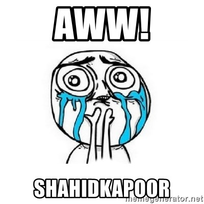 Crying face - AWW! SHAHIDKAPOOR