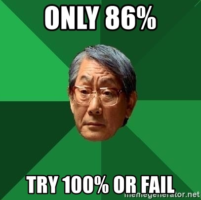 High Expectations Asian Father - ONLY 86% tRY 100% OR fAil