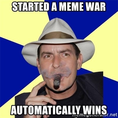 Charlie Sheen Winning - STARTED A MEME WAR AUTOMATICALLY WINS
