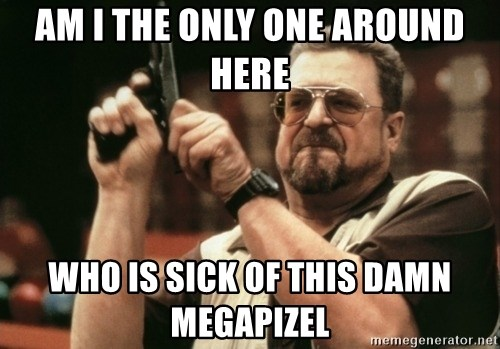 Walter Sobchak with gun - am i the only one around here Who is sick of this damn megapizel