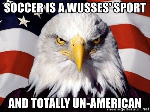 American Pride Eagle - soccer is a wusses' sport and totally un-american