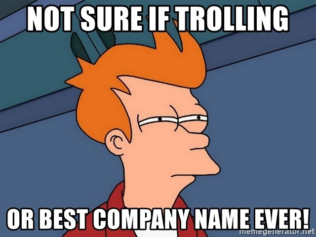 Futurama Fry - not sure if trolling or best company name ever!