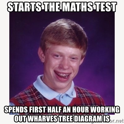 nerdy kid lolz - STARTS THE MATHS TEST  SPENDS FIRST HALF AN HOUR WORKING OUT WHARVES TREE DIAGRAM IS
