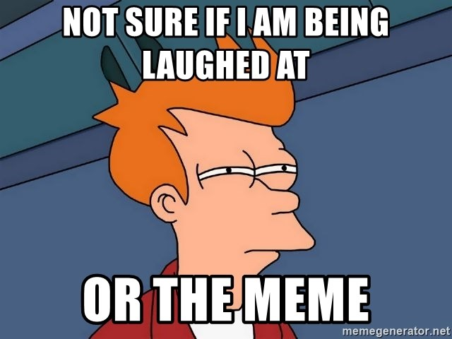 Futurama Fry - Not sure if i am being laughed at or the meme
