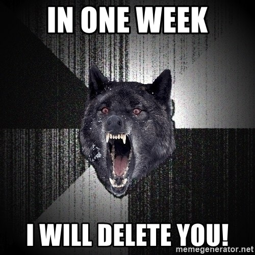 Insanity Wolf - In One Week I will Delete you!