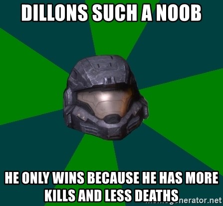 Halo Reach - Dillons such a noob he only wins because he has more kills and less deaths