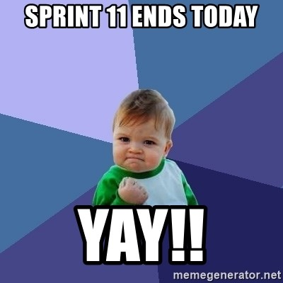 Success Kid - Sprint 11 ends today Yay!!