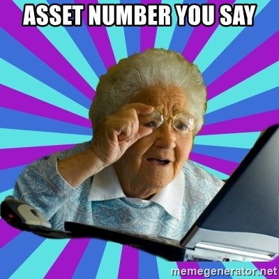 old lady - ASSET NUMBER YOU SAY