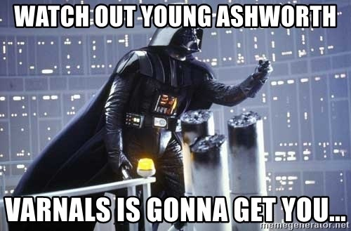 Darth Vader Shaking Fist - watch out young ashworth varnals is gonna get you...