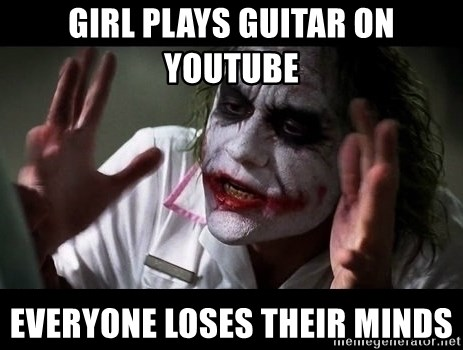 joker mind loss - Girl plays guitar on Youtube everyone loses their minds