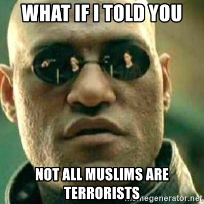 What If I Told You - What if i told you not all muslims are terrorists