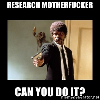 ENGLISH MOTHERFUCKER  - Research motherfucker can you do it?