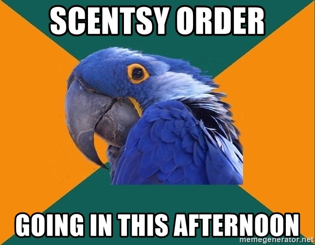 Paranoid Parrot - Scentsy Order Going in this afternoon