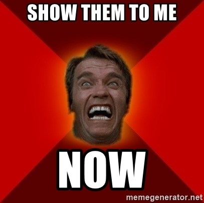Show Them To Me Now Angry Arnold Meme Generator
