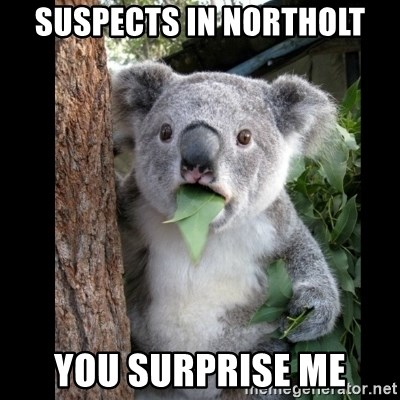 Koala can't believe it - suspects in northolt you surprise me