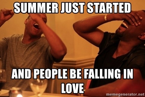 Jay-Z & Kanye Laughing - Summer just started and people be falling in love