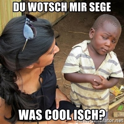 So You're Telling me - DU WOTSCH MIR SEGE WAS COOL ISCH?