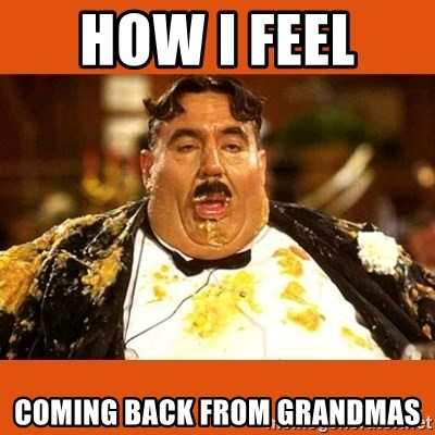 Fat Guy - HOW I FEEL  COMING BACK FROM GRANDMAS