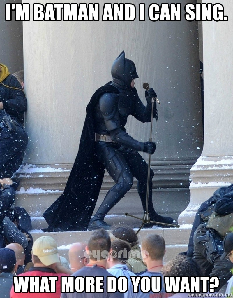 Batman Dance Party - I'M BATMAN AND I CAN SING. WHAT MORE DO YOU WANT?