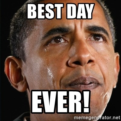 Obama Crying - Best day Ever!