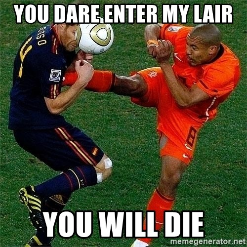 Netherlands - you dare enter my lair you will die