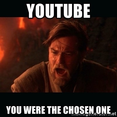 "Obi Wan Kenobi ""You were my brother!"" - YOUTUBE You were the chosen one"