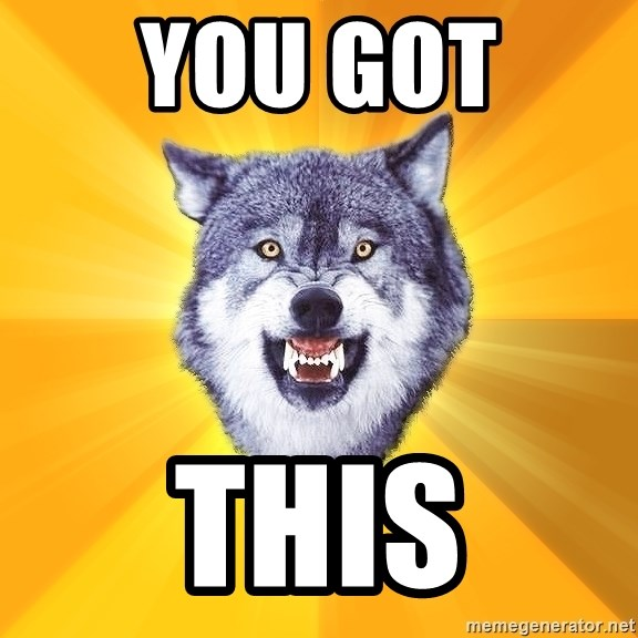 Courage Wolf - You got  This