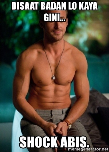 Shirtless Ryan Gosling - DISAAT BADAN LO KAYA GINI... SHOCK ABIS.