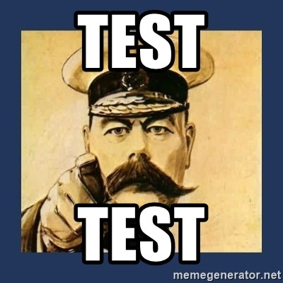 your country needs you - Test test