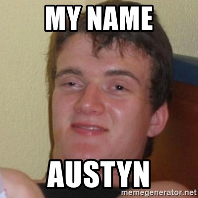 Really Stoned Guy - MY NAME AUSTYN