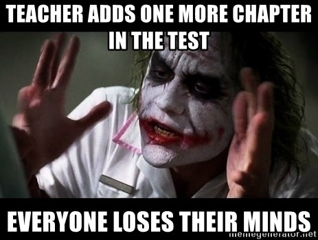 joker mind loss - teacher adds one more chapter in the test everyone loses their minds
