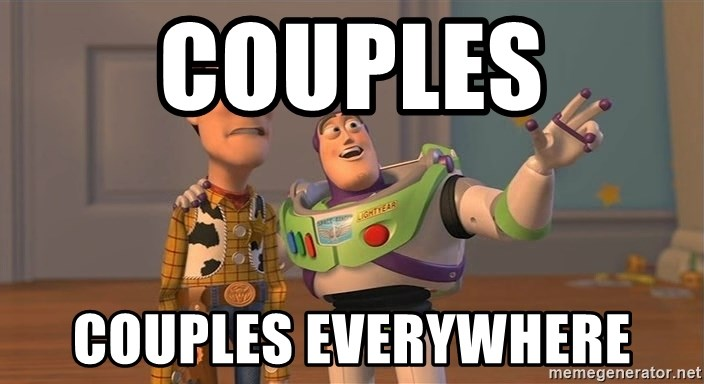 Toy Story Everywhere - couples couples everywhere