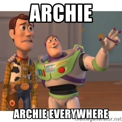 Toy story - Archie Archie everywhere