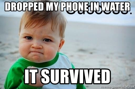 success baby - dropped my phone in water it survived