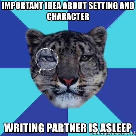 Important idea About setting and character Writing partner is asleep